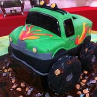 Green Dream Monster Truck This is my first attempt on carved cakes. I made this for my cousin?s birthday last Sunday. I had a very busy week so I only had Saturday...