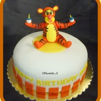 Tigger Themed Birthday Cake