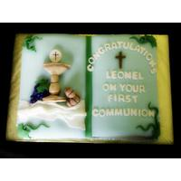 Irst Ommunion Bible Cake *
