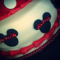 Red White And Black Minnie Mouse 1St Birthday Cake And Smash Cake *