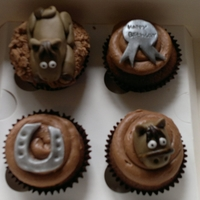 Horse Cupcakes Horse themed cupcakes