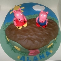 Peppa Pig Peppa and George in a muddy puddle!