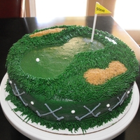 Golf Course Cake This is my first attempt at a golf course cake....it was for my husband's birthday