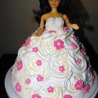 Princess/barbie Cake Using the Wilton Wonder Mould pan, this was my first attempt at a Princess/Barbie cake.