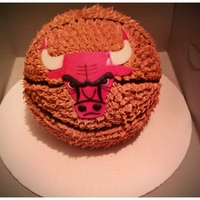 Chicago Bulls Basketball Cake