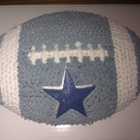 Dallas Cowboy Football Cake