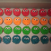 Furry Monster Cupcakes