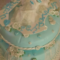 It's Blue Day christening cake