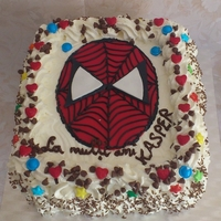 Spiderman Cake   fresh cream cake
