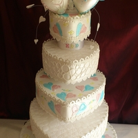 Sweet Hearts Wedding Cake