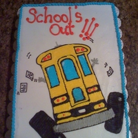 School's Out Cake For the last day of school