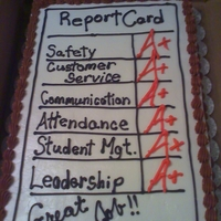 Report Card - Business For the last day of School