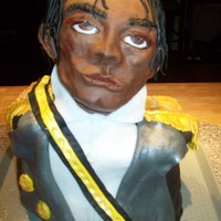 Michael Jackson This is my first attempt at a sculpted cake. The head is rkt and fondant. The body is cake and fondant.