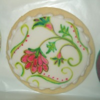 Painted Fondant This is a painted fondant cookie.