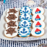 Nautical Cookies Rudser, anchor and boat cookies
