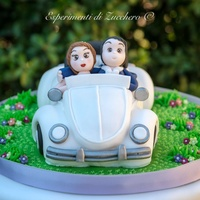 Wedding And Christening Cake In A Beetle Car Cake Wedding and christening cake in a beetle car cake