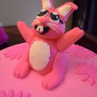 Pink Bunny Party Cake And Smash Cake