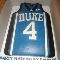 Duke Jersey Cake 1/2 sheet Duke Jersey. 2 layer. 2 flavor. Homemade fondant.