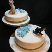Catch Of A Lifetime All Buttercream with edible chocolate rocks, satin ribbon border