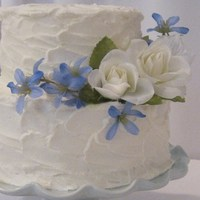 Bride Wanted Simple Elegant And Provided The Silk Floral Cake As Chocolate With Raspberry Filling Vanilla Buttercream Frosting Bride wanted simple elegant and provided the silk floral. Cake as chocolate with raspberry filling, vanilla buttercream frosting
