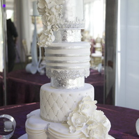 Metallic Wedding Cake Metallic Wedding Cake