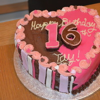 Chocolate Heart Birthday Cake For My Now 16 Lover Of Pink Friend Tayla Chocolate heart Birthday cake for my now 16 lover of pink friend Tayla!