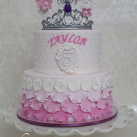 "Pretty Pink Princess Cake ""P"" is for Pretty Pink Princess Cake with Plenty of Petite Pearls :)"