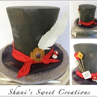 Mad Hatters Hat Cake For An Alice In Wonderland Themed 50Th Birthday Party Mad Hatter's Hat cake for an Alice in Wonderland themed 50th birthday party.