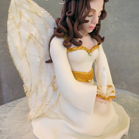"A Prayer For Peace Christmas Angel Cake Topper Made With Fondant Gum Paste And Rice Paper My First Attempt At A More Realistic Figure ""A Prayer for Peace"" Christmas angel cake topper made with fondant, gum paste and rice paper. My first attempt at a more..."