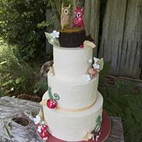 Owl Love You Forever A sweet and whimsical wedding cake with matching cookies