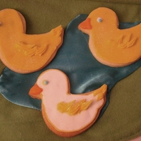 Duck Cookies Sugar cookies with duck shapes, in white and yellow