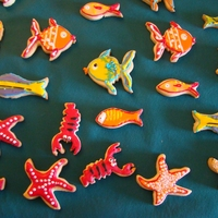 Fish Cookies Sugar cookies under the sea: fishes, sea stars, seahorses...