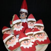 Elf On The Shelf Cookies Elf on the shelf cookies decorated with royal icing