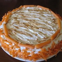Dolly & Porter's Birthday Cake (For Dogs) A birthday cake for my dogs!Peanut butter cake topped with cream cheese and carrots - all my puppies favorite treats! - baked into a safe-...
