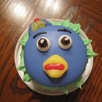 The Backyardigan's Pablo Cupcakes My nephew's favorite character from Nickelodeon's The Backyardigans : Pablo made into a cupcake