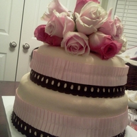 Baby Shower Cake W/ Fresh Flowers