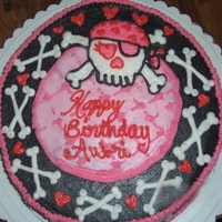 Girly Skull Cake Here is a cake I did about a year ago for my best friend's daughter's birthday party! They loved it and I think it turned out...
