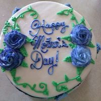 Top Of Cake I Was Asked To Do This Cake Last Minute For My Grandmother For Mothers Day *Top of cake. I was asked to do this cake last minute for my grandmother for mother's day.
