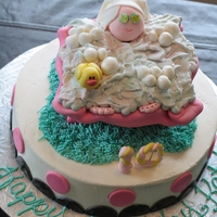 Bubble Bath Birthday Cake Spa Birthday cake for a little girl who was turning 10.
