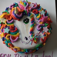 Lisa Frank Inspired Unicorn Cake