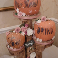 The Couple Requested Pumpkins As This Was How The Groom Proposed The Writing Was Copied From Their Invites Lemonraspberry And Champagne The couple requested pumpkins as this was how the groom proposed :) the writing was copied from their invites. Lemon,raspberry and...