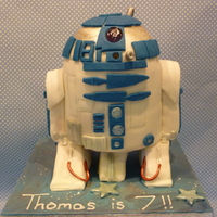 R2 D2 vanilla sponge with raspberry filling.