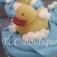 Rubber Duckie Cupcakes These were the rubber duck cupcakes that inspired my friends wedding cake (see other pics) I made these for my friends daughter on her...