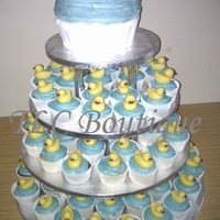 Rubber Duck Wedding Cupcakes A wedding cupcake tower for my friends wedding day, she wanted my rubber duck cupcakes and a big cupcake cake. I'm pleased with the...