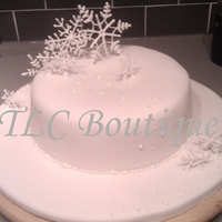 Snowflake Christmas Cake This is a cake I made for myself Christmas 2010, I took inspiration from another beautiful cake I saw online made by 'small things...