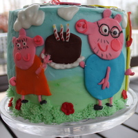 Peppa Pig Birthday Party Daddy Pig's favorite chocolate cake - www.ameetabakes.com