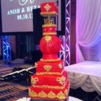 Indian Wedding Cake My first wedding cake EVER. It happened to be for an Indian wedding. The bride wanted to match her outfit to the cake which gave me the...