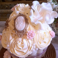 Marie Antoinette Giant cupcake made for a Modern Marie Antoinette themed photo shoot.