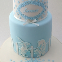 Bunny And Bear Christening Cake
