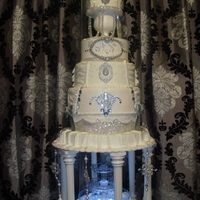 Bling Wedding Cake   My First wedding cake! First 6 tier cake i made for a friends wedding :)
